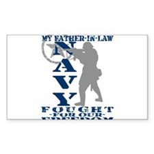 Father-n-Law Fought Freedom - NAVY Decal