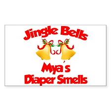 Mya - Jingle Bells Rectangle Decal