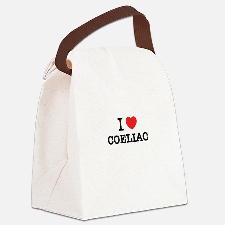 I Love COELIAC Canvas Lunch Bag