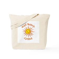 Red Beach, Greece Tote Bag