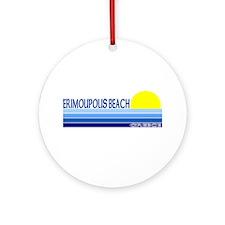 Erimoupolis Beach Ornament (Round)