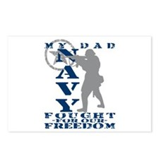 Dad Fought Freedom - NAVY  Postcards (Package of 8