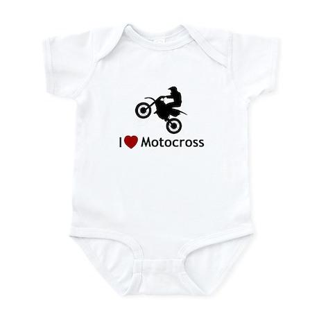 I heart motocross Infant Bodysuit