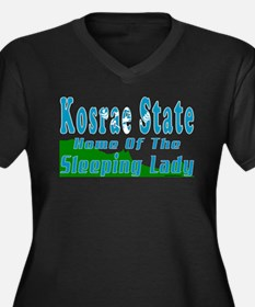 Home Of The Sleeping Lady Women's Plus Size V-Neck