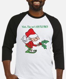 Cute Elf and Holly Baseball Jersey