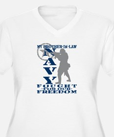 Bro-n-Law Fought Freedom - NAVY  T-Shirt