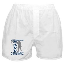Bro-n-Law Fought Freedom - NAVY  Boxer Shorts