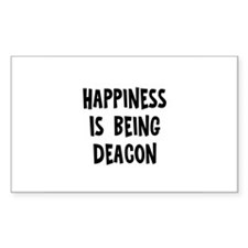 Happiness is being Deacon Rectangle Decal
