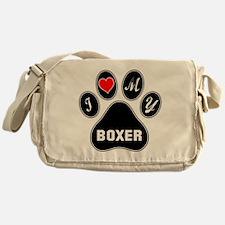 I love my Boxer Dog Messenger Bag