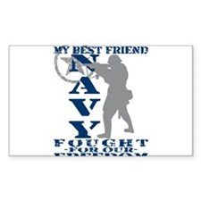 Best Friend Fought Freedom - NAVY Decal