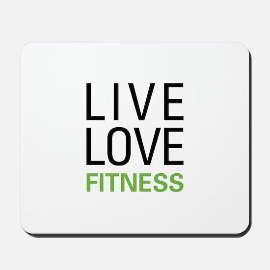 Live Love Fitness Mousepad