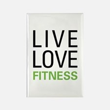 Live Love Fitness Rectangle Magnet