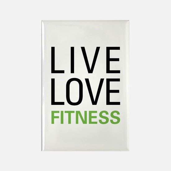 Live Love Fitness Rectangle Magnet