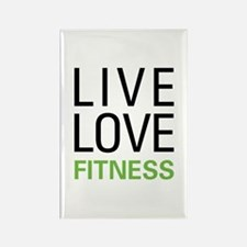 Live Love Fitness Rectangle Magnet (10 pack)
