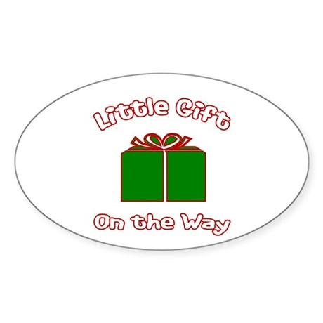 Little Gift -Christmas Oval Sticker
