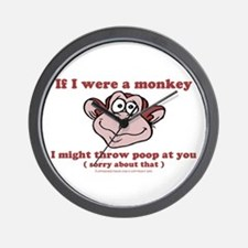 If I were a Monkey Wall Clock