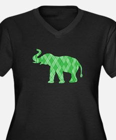 Geometric Elephant Plus Size T-Shirt