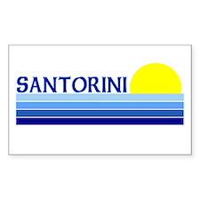 Santorini, Greece Rectangle Decal