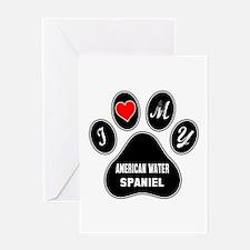 I love my American Water Spaniel Dog Greeting Card