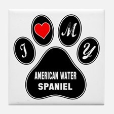 I love my American Water Spaniel Dog Tile Coaster