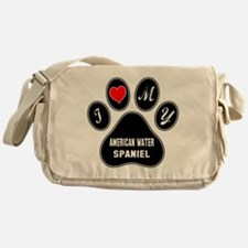 I love my American Water Spaniel Dog Messenger Bag