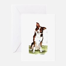 Smooth Coated Border Collie Greeting Cards (Pk of