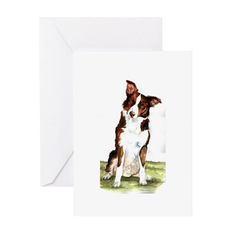 Smooth Coated Border Collie Greeting Card