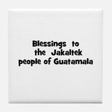 Blessings  to  the  Jakaltek  Tile Coaster