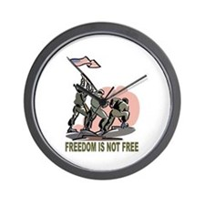 Freedom Is Not Free Wall Clock