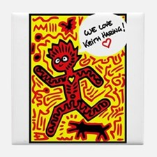 We love Keith Haring Tile Coaster