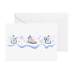 Hoiiday Snowmen 2 Greeting Cards (Pk of 20)