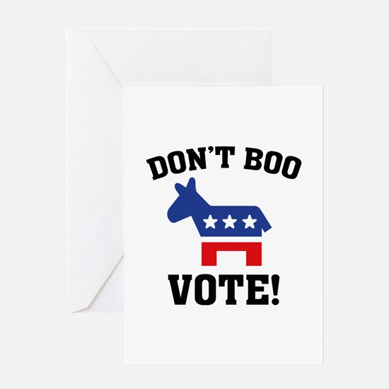 Don't Boo Vote! Greeting Card