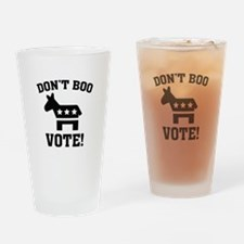 Don't Boo Vote! Drinking Glass