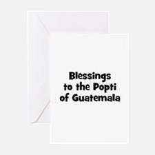 Blessings to the Popti of Gua Greeting Cards (Pk o