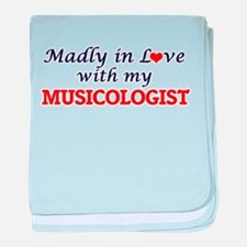 Madly in love with my Musicologist baby blanket