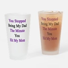 Funny Domestic violence survivors Drinking Glass