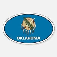 Oklahoma State Flag Oval Decal
