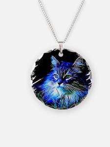 Cute Blue cat Necklace