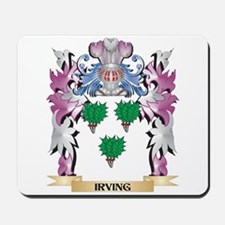 Irving Coat of Arms (Family Crest) Mousepad