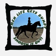 Smooth It Out! Throw Pillow