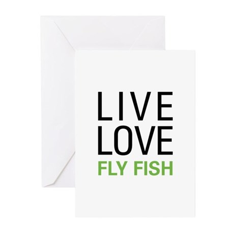Live Love Fly Fish Greeting Cards (Pk of 10)