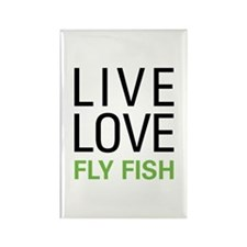Live Love Fly Fish Rectangle Magnet