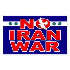 No Iran War Bumper Decal