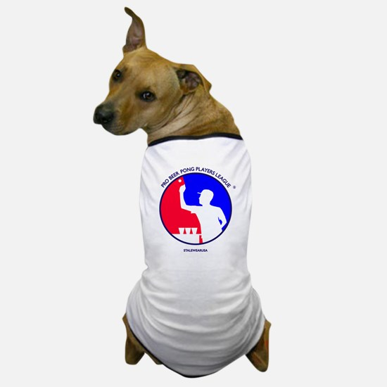 Pro Beer Pong Players Logo Dog T-Shirt