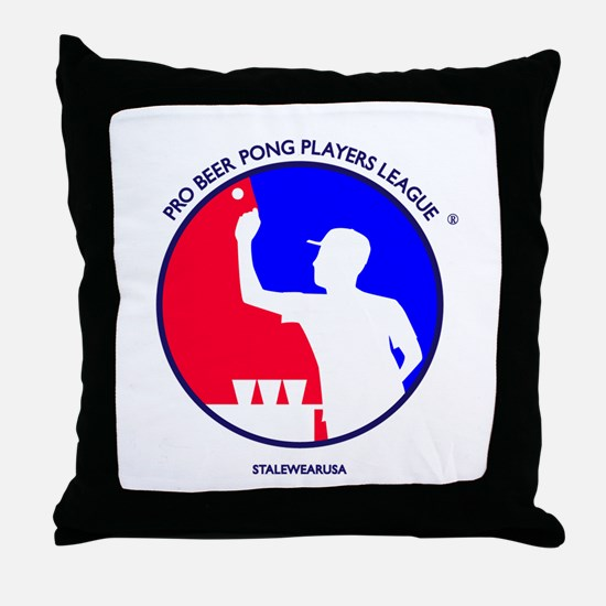 Pro Beer Pong Players Logo Throw Pillow