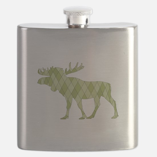 Green Moose Flask