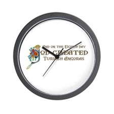 God Created Angoras Wall Clock