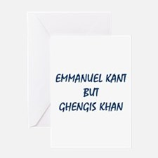 EMMANUEL KANT Greeting Cards