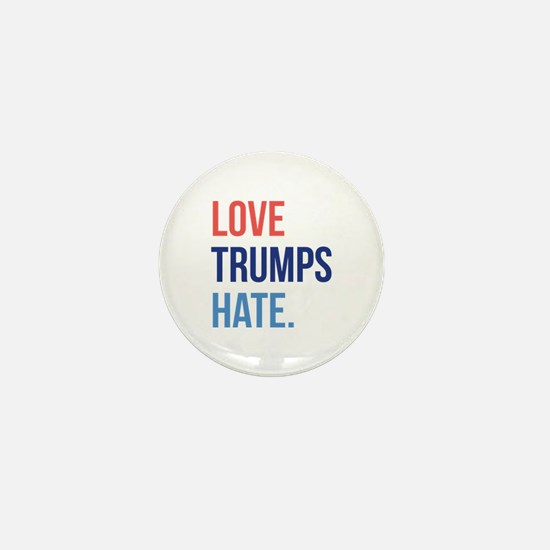 Love Trumps Hate Mini Button