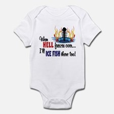 When Hell Freezes Ice Fish Infant Bodysuit